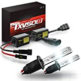TXVSO Lo nuevo Mini 12V 55W Xenon HID Kit de conversión Faros para reemplazo de vehículo de automóvil Juego de bombillas halógenas, H1 6000K Diamond White