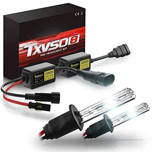 Wooya Tvso8 H1 55W 5500Lm Coche Faros Hid Bombillas De Xenón Impermeable Ip68 Ahorro De Energía Lámpara 9-16V 2 Piezas - 8000K