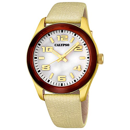 Ref. K5653/2 Reloj Calypso Señora, caja y brazalete dorado, sumergible 50 metros.