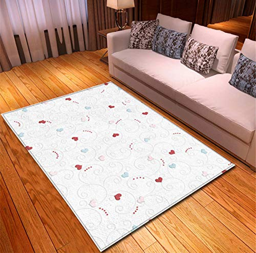 Teppich-Moderner Einfacher Geometrischer Druck-Wohnzimmer-Tabellen-Bereich Antifouling-Haltbarer Polyester-Weicher Teppich 140cmx200cm