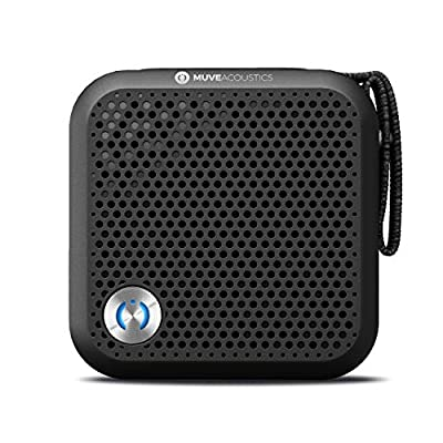 MuveAcoustics Portable Bluetooth Speaker - Loudest Wireless Stereo Sound for Home and Travel, Black from Zeeva International