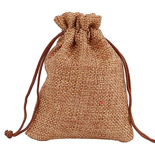 navidad en secreto 10 PCS Bolsa de arpillera natural Jute Bolsas de regalo de tamaño múltiple Paquete de joyas Bolsas de boda con bolsa de regalo bolsa de caramelo bolsas de regalo de papel de navidad