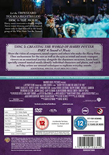 Harry Potter and the Goblet of Fire [Year 4] [2016 Edition 2 Disk] [DVD] [2005]