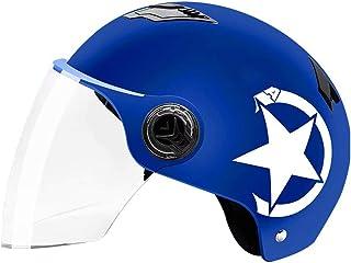 TINGYIN Casco de Bicicleta Impermeable Desmontable para Andar en Bicicleta Al Aire Libre Seguridad Deportiva Superligero Casco de Bicicleta Impresión-azulCircunferencia de la Cabeza 57-62cm