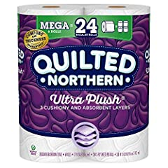 Premium bath tissue delivers softness with 3 cushiony, absorbent layers Luxurious embossed texture for ultimate comfort Quilted Northern Ultra Plush toilet paper is 3X thicker and 3X more absorbent than leading value brand Flushable and safe for stan...