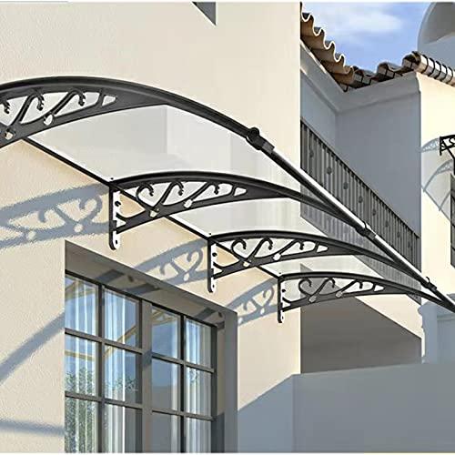 QYQPB Marquesina para de Aluminio de La Sombra, Toldo Silencioso del Patio, Dosel de Techo de La Ventana del Balcón Al Aire Libre (Size : 100 * 80cm)