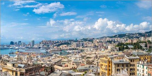 Posterlounge Stampa su PVC 100 x 50 cm: Genoa in Summer di Editors Choice
