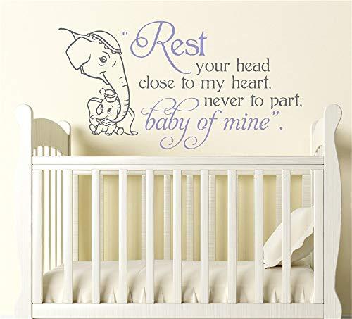 stickers muraux autocollant mural Bébé de mine décalque bébé et maman Elephant Baby Nursery For Kids