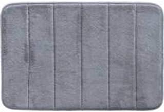 Tapete De Banheiro Antiderrapante Emborrachado Macio Super Soft Camesa Cinza Escuro 60x40cm