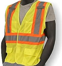Majestic Glove 75-3211/L Mesh Vest, Velcro, High-Vis, Class 2, Large, Yellow