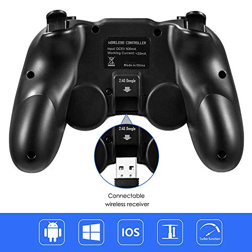 MODESLAB Wireless Bluetooth Gamepad Mobile Game Controller Joystick Video Games Controller Compatible with iOS Android iPhone Tablet PC/TV Box Perfect for The Most Games