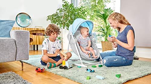 Kinderkraft Transat Bébé UNIMO, 5 en 1, Balancelle, Berceau, Pliable, Rose