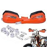 Handguards Dirt Bike Hand Guards - Universal For 7/8' And 1 1/8' Handlebar - For Dirt Bike For Motocross Enduro Supermoto(Orange)