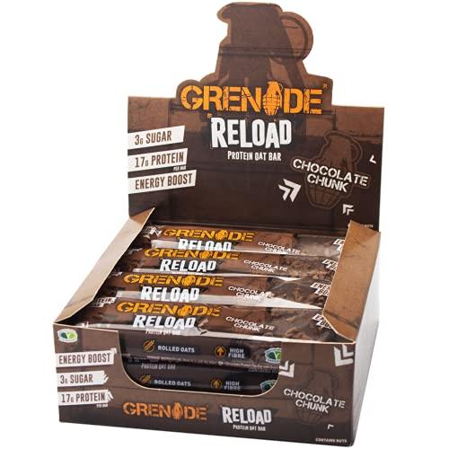 Grenade Reload Energy x 12 Bars - Chocolate Chunk