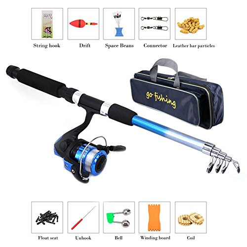 Set Mulinello Canna Da Pesca, Kit Completo Combinato Canna Da Pesca A Scomparsa E Mulinello, Base Combinata Canna Da Pesca Spinning, Kit Principianti Pesca Principianti Junior Per Principianti