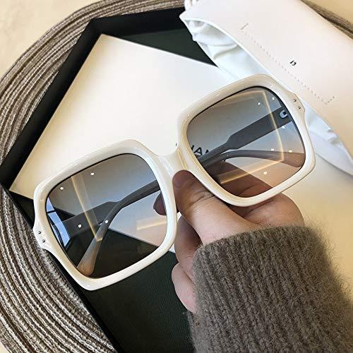 Vintage Oversize Square Gafas de sol de las Mujeres de la Marca de Lujo Gran Marco de las Mujeres Gafas de Sol Negro de la Moda de Gradiente Femenino