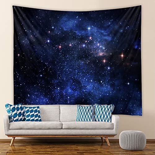 LZYMLG Elegante Cielo Estrellado cósmico y la Luna Agujero Negro Tapiz de Fondo Colgante de Pared Sala de Estar Dormitorio tapices Decorativos Gt102024 100 * 70CM