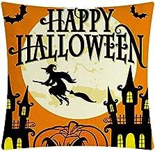 Professional Happy Halloween Pumpkin Castle Pillowcase Sofa Bed Cushion Cover Home Decor, Halloween Queen - Pillow Case, Linen Pillow, Decorative Pillows Linen, Pillow Cover, Halloween Tshirt