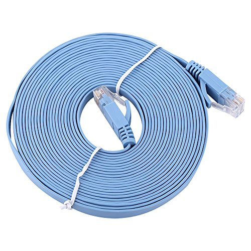 Demeras Cable LAN RJ45 CAT6 1000Mbps Gigabit Ethernet UTP Patch Router Cables Red Plana LAN WiFi Cable 0.5/1/2/3/5/10 / 15M(5m)