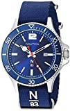 Nautica Watch NAPABS904 Accra Beach Calendar, Slip Thru Strap, Snap Down Crown, Blue