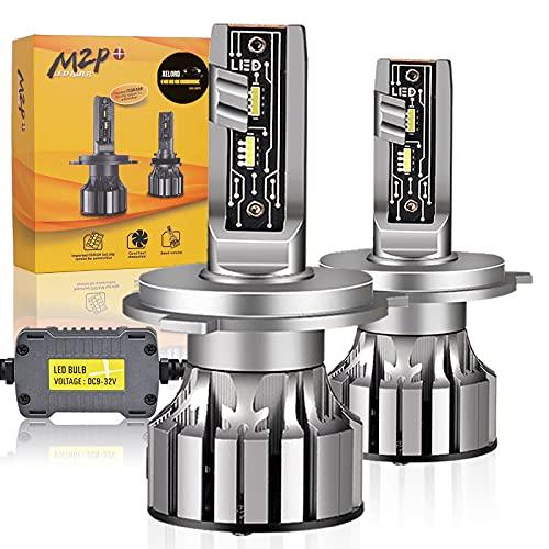 XELORD H4 LED Lampadine Fari Auto 6500K Alta Luminosità Luce Bianca 60W,Per DC 9V-32V Automobili (2 pezzi)