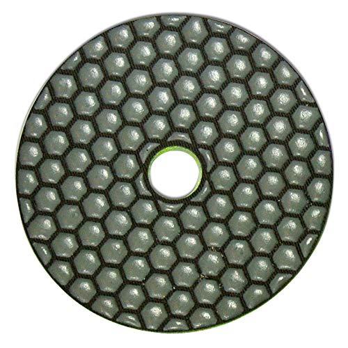 Profi Diamant-Schleifpad für Trockenschliff, Ø 100 mm, Körnung 50, Klettaufnahme, für Naturstein, Kunststein, Granit, Marmor, Glas, Keramik oder Fliesen