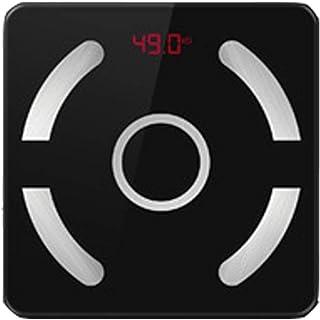 Báscula de baño Profesional Resbalón Báscula de Piso Bluetooth Báscula de Peso electrónica Medición Pantalla Inteligente Bluetooth Duradera (Color: Negro)
