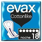 Evax Cottonlike Noche Compresas con Alas 18u