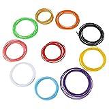 HEEPDD Filamento de lápiz de Impresora 3D, 10 Colores ABS/PLA Rellenos de filamento de lápiz Material de Consumo de plástico para niños Adultos Artes Artesanía Modelo DIY(PLA)