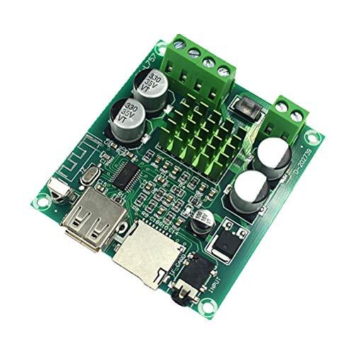 WUHUAROU 2 * 60W Bluetooth 5.0 Amplificador De Potencia De Audio Digital HiFi Estéreo 2.0 Canal Clase D Receptor Tarjeta TF USB AUX Placa De Amplificador Remoto