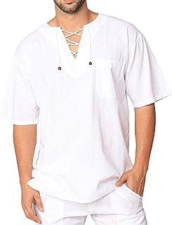 FossenHom Camisas de Hombre de Moda 2020 Camisetas Vintage Tops Blusa Holgada, Camisas Hombre Baratas Fiesta de Manga Larga