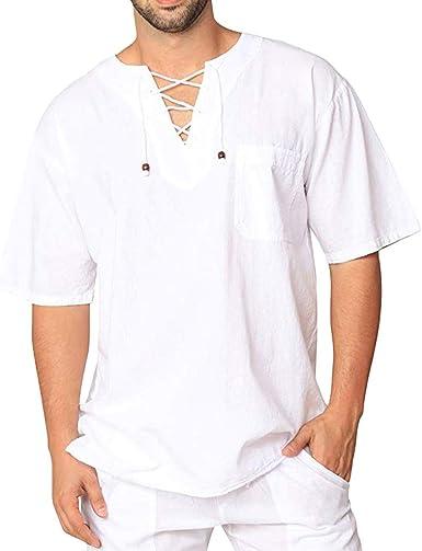 FossenHom Camisas de Hombre de Moda 2020 Camisetas Vintage ...