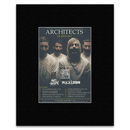 Stick It On Your Wall Mini-Poster, Motiv The UK 2012 Tour Architects, 13,5 x 10 cm