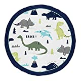Sweet Jojo Designs Blue and Green Dino Playmat Tummy Time Baby and Infant