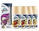 glade Automatic Spray Base con 4 pz Ricarica - Fragranza Sandalo di Bali e Gelsomino