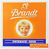 Brandt Zwieback, 8-Ounce Box (Pack of 10)