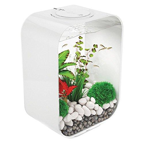 biOrb LIFE 15 Aquarium with LED - 4 gallon, White
