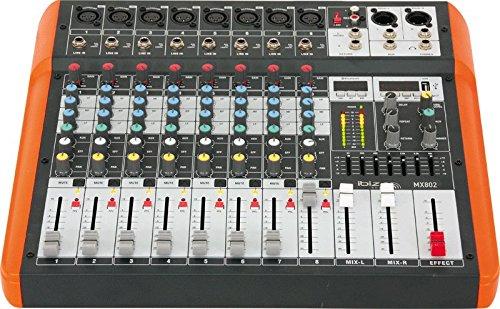 Ibiza 15-2393 8-Kanal Musikmischpult mit USB und Bluetooth