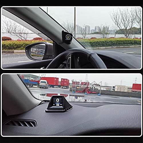 Swide Pantalla LCD Frontal HUD para Automóvil Sistema Dual GPS OBD Comfortable