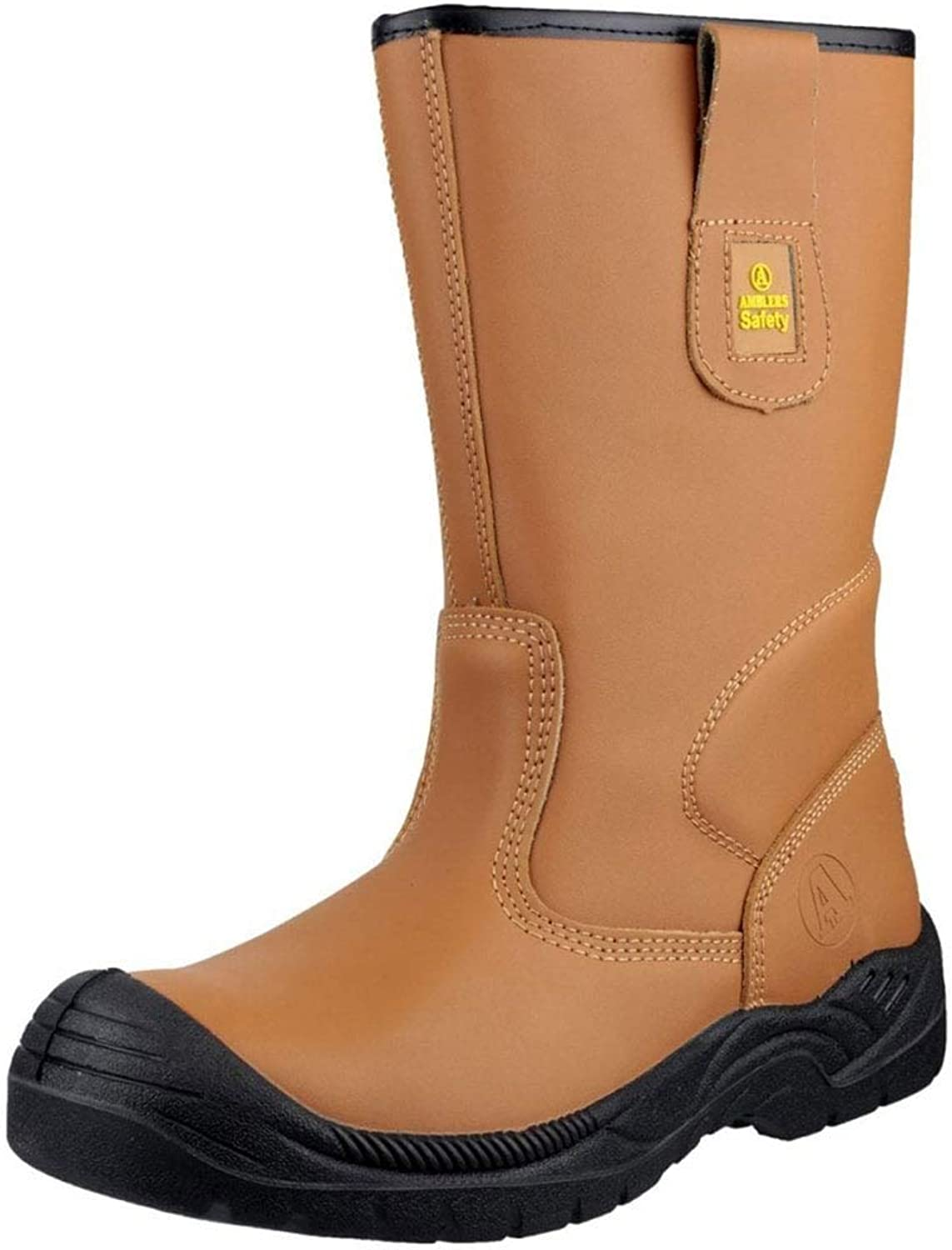Amblers Safety Mens FS142 Water Resistant Pull On Safety Rigger Boot Tan Size UK 12 EU 47