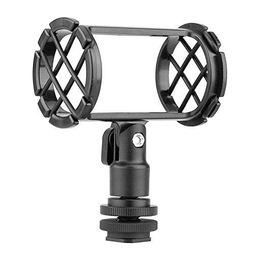 Market&YCY BY-C04 micrófono de la cámara Shock Mount,para AKG D230 Senheiser ME66 Rode NTG-2 NTG-1 Audio-Technica AT-875R para Sony ECM-CG50