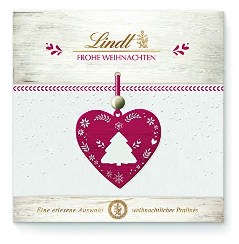 Lindt Frohe Weihnachten Pralinen, 5 unterschiedliche Sorten: Lebkuchen Herz, Makrone, Nuss Nougat gold, 4er Pack (4 x 96 g)