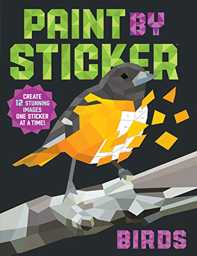Price comparison product image Paint by Sticker: Birds: Create 12 Stunning Images One Sticker at a Time!