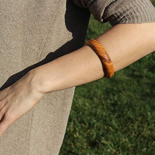 mitienda mit Liebe gemacht Armreif aus Holz, Holzschmuck, Schmuck für Damen, Handgelenk Armband, Geschenkidee