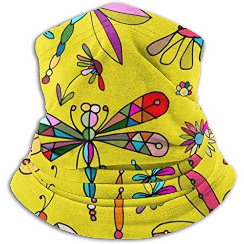 Archiba Écharpe de Cou Libellules Modèle sans Couture pour Votre Conception Cache-Cou en Molleton Cache-tête d'hiver Plus Chaud