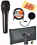 Audio-Technica AT2050 Multi-Pattern Condenser Microphone Bundle with Pop Filter, XLR Cable, and Austin Bazaar Polishing Cloth
