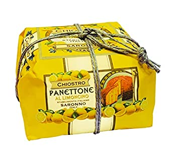 Chiostro Di Saronno Panettone with Limoncello - Hand wrapped - Italian Christmas Cake Imported from Italy 750g