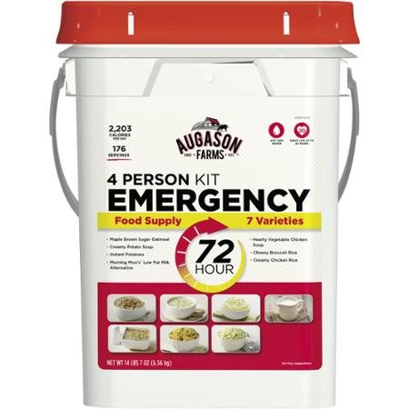 Augason Farms Emergency 4-Person 72-Hour and Safe Emergency Food Pail, 14.44 Pounds