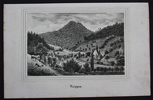 Krippen Bad Schandau Osterzgebirge Erzgebirge Original Lithographie Litho