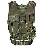 USMC Einsatzweste mit Koppel Tactical Vest Paintball Airsoft Softair Weste BlackSnake - Flecktarn